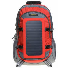 Sports backpack with <b>removable solar charger</b>
