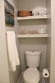 Bathroom: Inspiring Shelving Idea Over The Toilet For Small Space - Wood  Over The Toilet