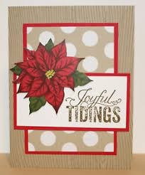Poinsettia Card Details About Holiday Greeting Card Kit X4 Handmade Stampin Up Christmas Poinsettia