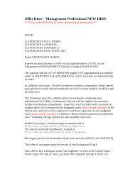 2017 Offer Letter Format Fillable Printable Pdf Forms Handypdf