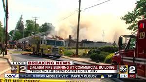 carroll county fire crews battle 2 alarm fire in mt airy