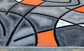 orange and gray rugs rug modern contemporary area grey black 5 feet x 7 orange and gray rugs