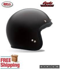 bell custom 500 retro 3 4 motorcycle helmet new fit matte black