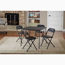 0219c2f6 8c8d 49b8 bbd4 496dcb6fb572 1587a0c4bca0dd c8ede f2 cosco 5 piece card table set black walmart from round dining table