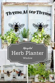 upcycle window herb planter turn an old window and some tin cans into a stunning