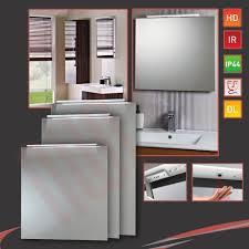 Demister Bathroom Mirrors Led Down Lighter Bathroom Mirrors Infrared Sensor Heat Demister