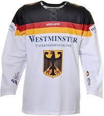 Xl versand in de für 5,49 eur als paket mit tracking; Bauer Deutschland Deb Eishockey Trikot Wm 2017 Weiss Xxl Amazon De Bekleidung