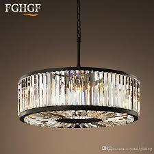 modern vintage crystal chandelier lighting pendant hanging light ceiling mounted chandeliers lamp for home hotel villa decor fast chandeliers