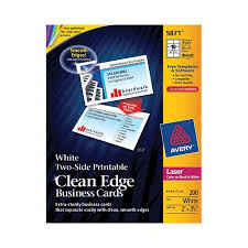 Avery 5871 Labels Laser Clean Edge Business Cards White Matte 10