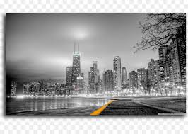 new york city black and white mural wallpaper building