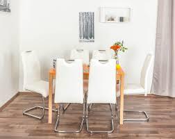 Wooden Nature Esstisch Set 353 Inkl 6 Stühle Weiß Buche