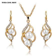 toucheart simulated pearl indian wedding jewelry sets