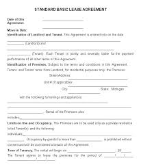 One Page Lease Agreement One Page Rental Agreement Template