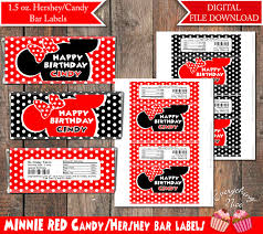 hershey candy bar wrapper minnie mouse red 1 55 oz chocolate hershey candy bar wrappers