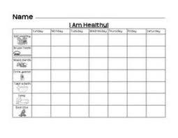 Healthy Living Chart Healthy Living Chart Preschool Items Juxtapost