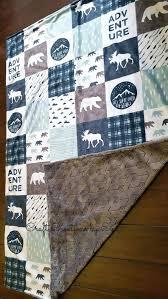 woodland nursery bedding boy adventure blanket moose blanket baby blanket lumberjack blanket baby blankets buffalo plaid