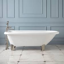 hoyt acrylic clawfoot tub  modern feet  bathroom