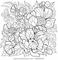 Printable Coloring Pages Of Flowers And Butterflies Coloring Pages Flowers And Butterflies Canadiansf Info