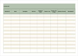 format of inventory 16 inventory list templates free sample example format download