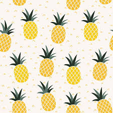 cute pineapple wallpaper. Wonderful Wallpaper Seamless Pineapple Pattern  Cute Doodle For Textile  Fabric Or Wallpaper Backgrounds Stock Vector Intended Cute Pineapple Wallpaper P