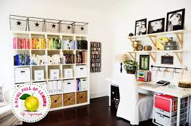 Declutter home office House Bowl Full Of Lemons Has Great Post About Home Office Organization And Isnt This Pretty Yet Functional Space Ive Got One Of Those White Expedit Southern Hospitality Office Organization And Decluttering Southern Hospitality