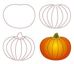 pumpkin drawing. pumpkin drawing