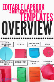 Editable Foldable Templates Free Editable Lapbook Interactive Notebook Templates When You