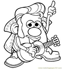 Small Picture Mr Potato Head 006 Coloring Page Free Mister Potato Coloring