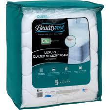 memory foam mattress topper packaging. Beautiful Memory Beautyrest Quilted Memory Foam Mattress Pad In Multiple Sizes  Walmartcom Intended Topper Packaging