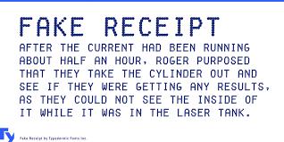 Make Receipts Free Stunning Fake Receipt Font 48 Fonts