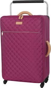 IT Luggage Tritex Quilted Medium 4 Wheel Suitcase - Persian Red ... & IT Luggage Tritex Quilted Medium 4 Wheel Suitcase – Persian Red ( Grade A ) Adamdwight.com