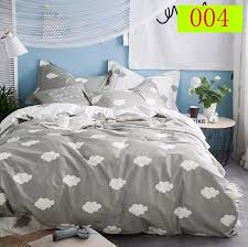 cartoon cloud gray twin full queen king 1pc cotton duvet cover quilt cover bedclothes comforter cover