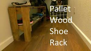 How To Make A Shoe Rack Simple Shoe Rack From Reclaimed Pallet Wood Youtube