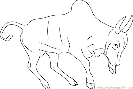 Small Picture Indian Bull Coloring Page Free Bull Coloring Pages
