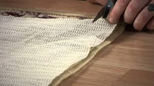 how to properly trim an underlay for an area rug carpet rugs you