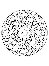 Kleurplaat Mandala Kerst Kleurplatennl