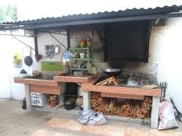 S Rustic Outdoor Kitchen Brick Adorable Exterior Blueprints Backyard  Landscaping Ideas Small Plans Free Design With Pictures