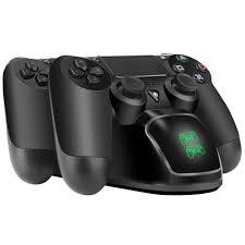 sony playstation 4 controller. beboncool ps4 controller charger, playstation 4 charging station, dock, dual charger for sony playstation b