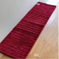 2019 50x180cm extra long non slip bathroom kitchen rug runner machine washable shower bath mats water absorbent flocking mats from geoda
