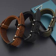 send the tool 20mm 22mm 24mm 26mm strap genuine leather watch band for nato zulu straps upscale black brown green men strap band color black band width