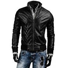 Designer Black Leather Jacket Mens Designer Slim Fit Black Quilted Leather Biker Jacket