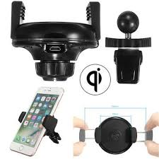 <b>Qi Wireless</b> Smart Cell Phone <b>Charger</b> Holder Car <b>Interior</b> Air Vent ...