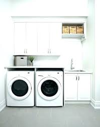 plywood laundry room waterfall countertop clothes washer