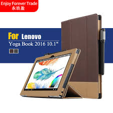 ultra slim folding stand pu leather book cover protective with magnetic case for lenovo yoga book