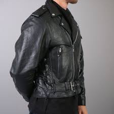 hot leathers classic motorcycle leather jacket w zip out lining