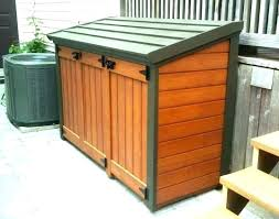 wood garbage can shed plans outdoor trash s sheds free