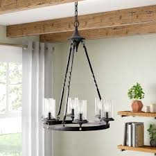 chifdale 6 light candle style farmhouse chandelier