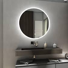 Delhi Rund Badspiegel Mit Led Beleuchtung Schalter Heizmatte