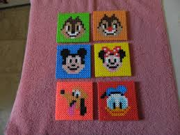 Perler Beads Mickey Mouse Designs Mickey Mouse And Friends Coasters Perler Beads Perler Bead
