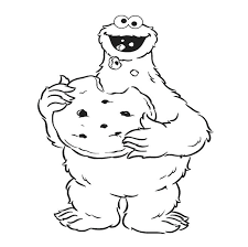 Cookie Monster Coloring Pages Eat Page Kitchen Boo Gewerkeinfo